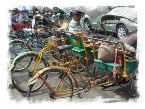 Becak in Malang